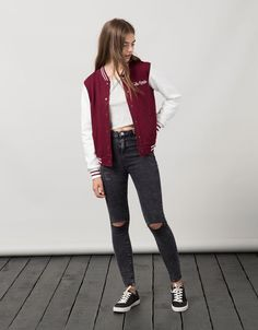 BSK patch baseball jacket. Discover this and many more items in Bershka  with new products fd4aab1bd