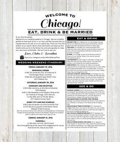 Welcome Letter Wedding Hotel By Designandpop