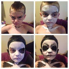 #progression #jackskeleton #makeup #Halloween