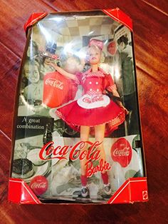 Barbie Collector Doll: Mattel Year 1998 Barbie Collector Edition CocaCola Barbie as a Waitress ** Want to know more, click on the image.