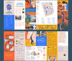 Graphic Design Brochure, Brochure Design Inspiration, Brochure Layout, Creative Brochure Design, Magazine Design Inspiration, Design Ideas, Pamphlet Design, Leaflet Design, Building Information Modeling