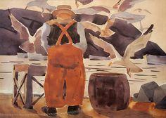 New Site: JamesFitzgerald.org - Monhegan paintings included! James Fitzgerald, Jamie Wyeth, Monhegan Island, Robert Henri, Rockwell Kent, Modern Coastal, News Sites, Museum, Watercolor