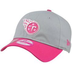 272ca5009982d New Era Tennessee Titans Ladies Breast Cancer Awareness Gridiron Adjustable  Hat - Gray Pink