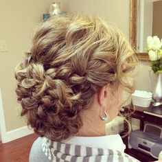 Textured braided updo!  By Emily Holland