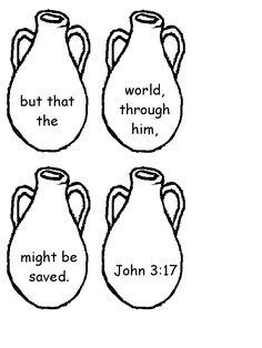 John 3 Verse 17 Memory Activity Page 2