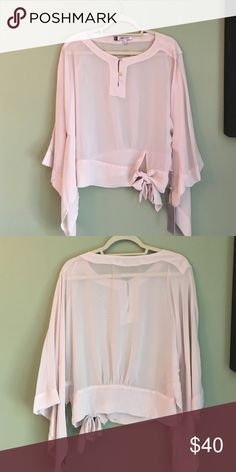 Jennifer Lopez Blush Blouse. BRAND NEW! Jennifer Lopez Blush Blouse. BRAND NEW! Jennifer Lopez Tops Blouses