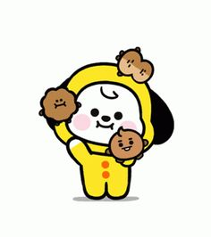 Cute Juggle GIF - Cute Juggle Smile - Discover & Share GIFs Bts Wallpaper Desktop, Baby Wallpaper, We Bare Bears, Line Friends, Bts Concert, Aesthetic Gif, Bts Chibi, Cartoon Pics, Cute Gif