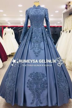 <img> Indigo Blue Hijab Engagement Umraniye You will love to wear on your engagement day and you will celebrate a great engagement with our specially designed hijab engagement model in vital tones of blue. Muslimah Wedding Dress, Muslim Wedding Dresses, Princess Wedding Dresses, Boho Wedding Dress, Bridal Dresses, Indian Wedding Gowns, Indian Gowns Dresses, Modest Dresses, Evening Dresses
