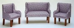 how to: miniature upholstery (using cotton fabric)