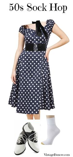 1950s Polka Dot Sock Hop Outfit  #costume #halloween