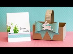 DIY Paper Basket, Bow and Card - YouTube