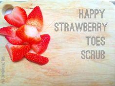 DIY Foot scrub recipe Strawberries Cosmetics