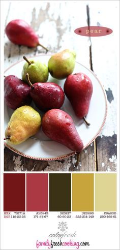 ColorFresh { Pear } | Color Palette on FamilyFreshCooking.com