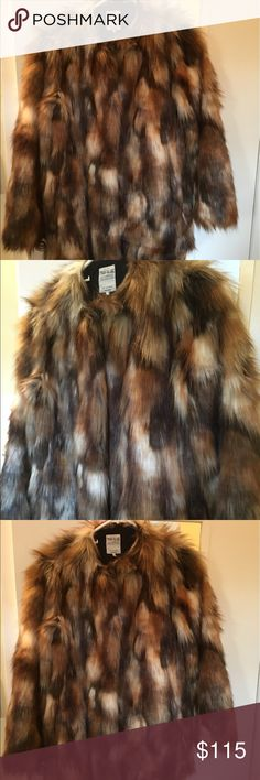 Faux Fur Coat Multicolored Faux Fur coat! So warm, So Chic! It can fit 2-4 womens... ***** FEEL FREE TO MAKE AN OFFER! Zara Jackets & Coats Trench Coats