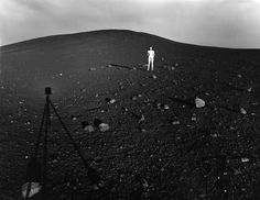 Judy Dater, Self portrait craters of the moon, 1981.