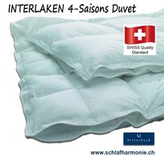 INTERLAKEN 90 swiss made 4 Jahreszeiten Bettdecke von Billerbeck ♥ günstige Bettwaren kaufen Montana, Duvet, Bed Pillows, Pillow Cases, Home, Sleep Better, Winter Night, Bed Covers, Mattress