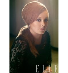 Behind Adele's sultry Elle photo shoot.  Her voice is one of the finer things in life.