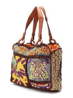 JAMIN PUECH crochet bag Crochet Tote, Crochet Handbags, Crochet Purses, Pouch Bag, Backpack Bags, Embroidery Bags, Diy Handbag, Boho Bags, Fabric Bags