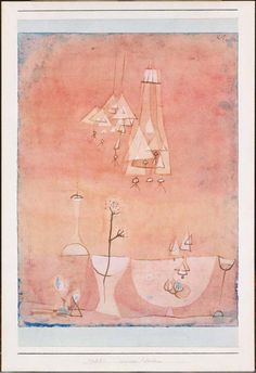"""Paul Klee 'Botanical Laboratory'  1928  Gouache,watercolor and ink on paper mounted on cardboard  12 3/8"""" x 9 1/4"""""""