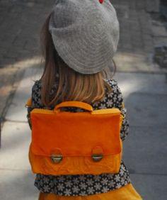 beret + backpack