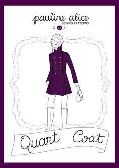 Patron de couture manteau Quart par Pauline Alice Cartamodello dell' cappotto Quart di Pauline Alice Quart coat sewing pattern by Pauline Alice