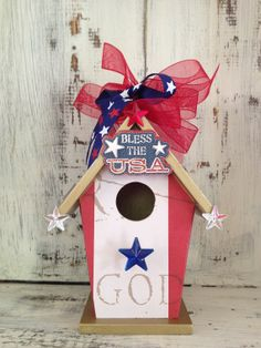 4th of JULY Independence Day Memorial Day  by BirdhouseGiftGallery, $20.00