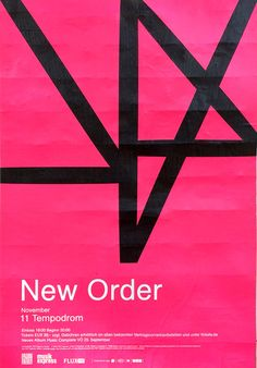 postersofberlin:  New Order at Tempodrom – found in Mitte