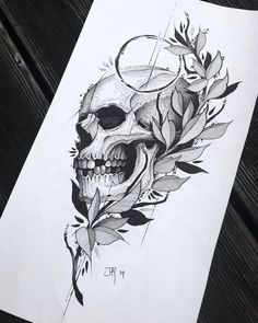 Archive of sketches for tattoo. Tatto Skull, Skull Rose Tattoos, Skull Tattoo Design, Tattoo Design Drawings, Tattoo Sketches, Tattoo Designs, Tattoo Ideas, Wing Tattoos, Tattos