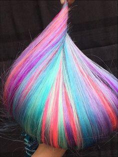 Rainbow Hair is IN « Hidden Crown Hair Extensions