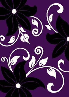 1014 Purple White Black 8x10  Modern area rug carpet Contemporary #Modern