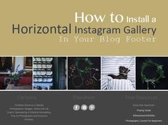 How to Install A Horizontal Instagram Gallery In Your Blog Footer
