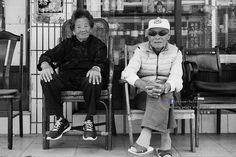 Ninety years old elders - 九旬長輩 Analog black and white photos coarse particle effects. 模擬黑白照片粗粒子效果