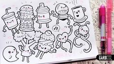 10 little Drawings for your doodles - Easy and Kawaii Drawings