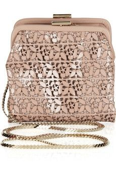 Valentino | Laser-cut patent-leather shoulder bag | NET-A-PORTER.COM - StyleSays