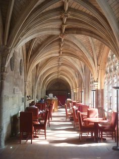 Stop for coffee or a bite of lunch in St Bartholomew the Great Cloister Cafe, West Smithfield,  London