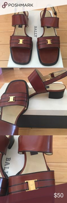Woman shoes Bally sandal Brand new, Bally sandal, dark brown, size 7c,about 1.5 inches high Bally Shoes Sandals