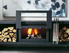 Conmoto Balance Modular stove system - lift up fire chamber door