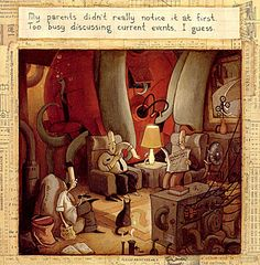 An image from The Lost Thing by Shaun Tan, one of my favorite contemporary artists.