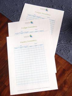 Fridge & Freezer Inventory Printable