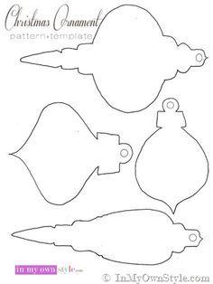 christmas ornaments stencils - Google Search