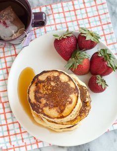 Extra-fluffy with creamy, custard-like middles — ricotta pancakes are something you need to try tout suite! They make an elegant alternative to your usual Saturday morning fare, and are a good excuse for adding ricotta to your shopping list.
