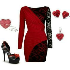 Valentines club outfit or Valentines date outfit with the boo.