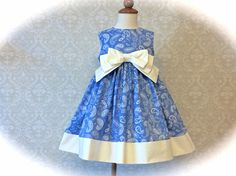 Girls Easter Dress Toddlers Easter Dress Blue and by 8thDayStudio