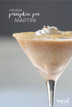 Frozen Pumpkin Pie Martini topped with @realreddiwip   #SharetheJoy