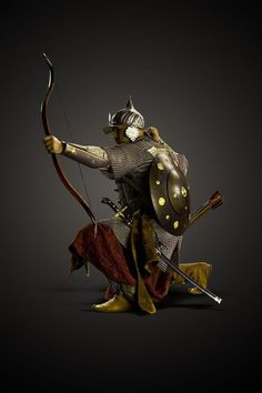 """invictascientia: """"Reenactment of Ottoman archer, modeled after a figure in the Topkapi Palace. Medieval Armor, Medieval Fantasy, Fantasy Warrior, Knights Templar, Ottoman Empire, Military History, Islamic Art, Middle Ages, Archery"""