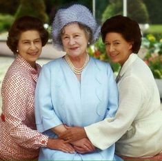 The Queen Mother And Her Two Daughters Queen Elizabeth II And Princess Margaret