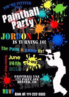 PAINTBALL-INVITATION-Paintball-Birthday-Invitation-Paint-Splattered-Invite