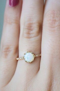 Image result for opal engagement rings