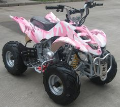 Jazzy's pink camo ATV~ looking for a couple more for the two littles, so glad they are all getting to the age where we can takeoff and ride=)