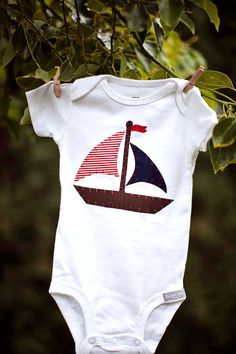 AHOY It's A Boy Nautical Sailboat Onesie by SweetThreadsClothing, $16.50